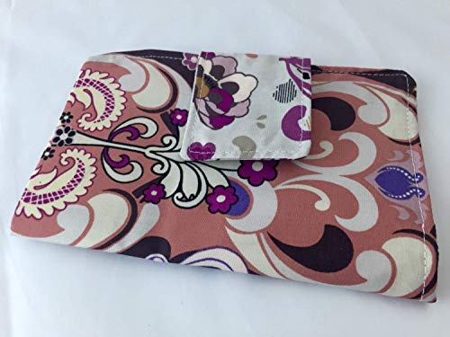 Privacy Pouch -Tampon and Sanitary Pad Case Holder - Glam in Plum