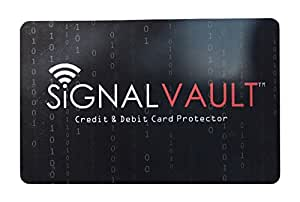 Signal Vault RFID Blocking Credit & Debit Card Protector