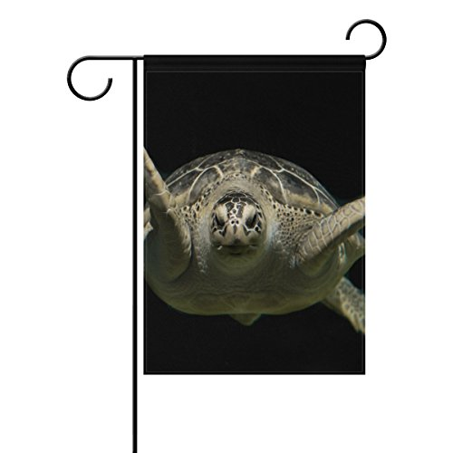 "LEISISI Sea Turtle Garden flag 12""X18"" Two Sided Yard Decora"