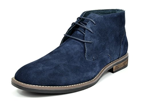 Bruno Marc Men's URBAN-01 Navy Suede Leather Lace up Oxfords Desert Boots - 12 M US - Leather Oxford Jeans
