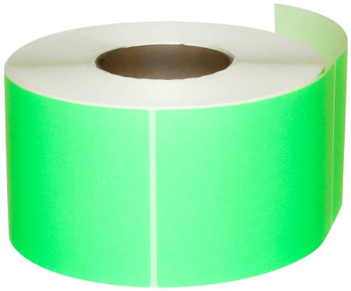 Compulabel Thermal Transfer Shipping Labels, 4 inch x 6 inch, Pastel Green, Permanent Adhesive, Perforations Between Labels, 1000 Per Roll, 4 Rolls