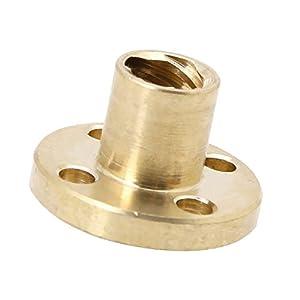 MonkeyJack T8 8mm Pitch Brass Nut for Acme Threaded Rod Lead Screws DIY 3D Printer Part by MonkeyJack