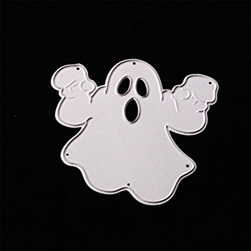 Jujunx Happy Halloween Metal Cutting Dies Stencils Scrapbooking Embossing DIY Crafts (Dot Border Photo Cards)