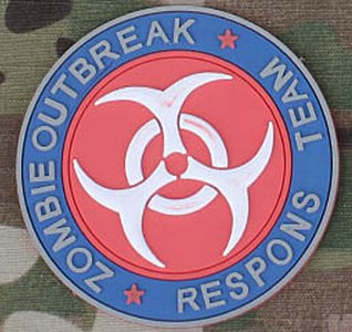 HFIRE Zombie Outbreak Response Team Tactical PVC Patch
