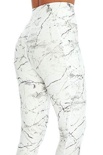 Marika Women's Legging, White Light Marble Cracks, Small