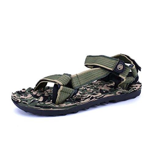 ZXCV Zapatos al aire libre Zapatos de los hombres al aire libre de los hombres de la playa sandalias huecos transpirables Verde
