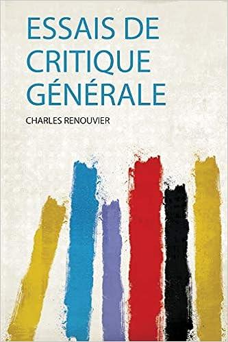 Essais Critique Générale