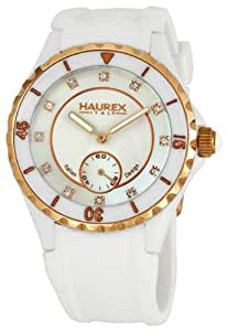 Haurex Italy Ladies Riviera White Mother of Pearl Dial Watch 1W337DWH