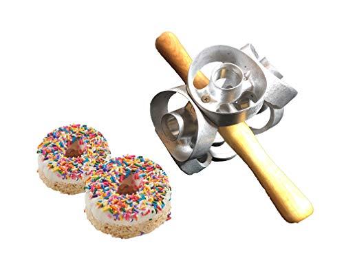 3 inch one row donut cutter roller, This commercial grade dounut cutter will cut 6 dounuts per revolution.