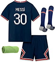 2022 Soccer Jersey for Kids Football Kit Short Sleeved Shirt, Shorts,Socks, Towel 4in1 Gift Set,Color Navy