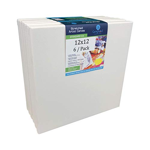 Greg's Artist Canvas, Standard Canvas (6 / Pack) On 3/4