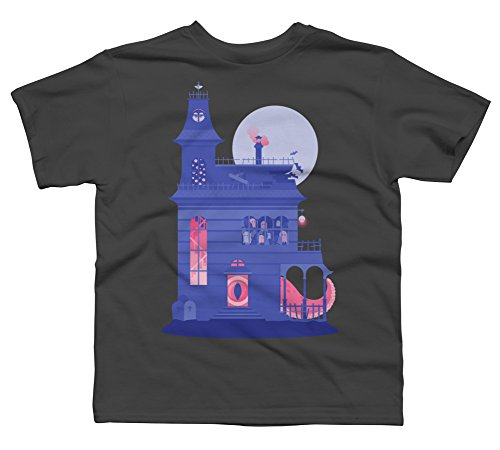Cursed Residence Boy's Small Charcoal Youth Graphic T Shirt - Design By (Residence Life Halloween)
