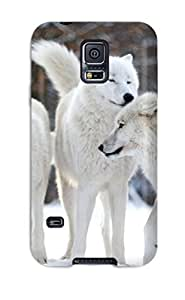 aqiloe diy Heidiy Wattsiez's Shop Hot 7845471K23614857 Ideal Case Cover For Galaxy S5(arctic Wolf), Protective Stylish Case
