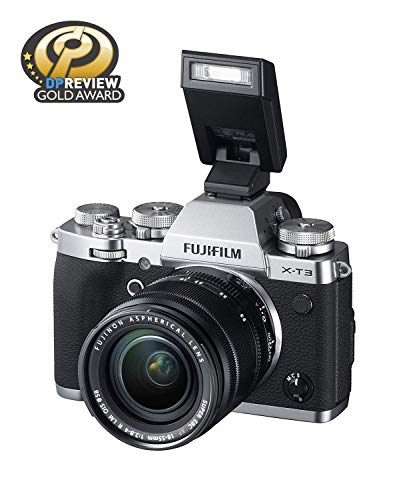"""Fujifilm X-T3 26.1 MP Mirrorless Camera with XF 18-55 mm Lens (APS-C X-Trans CMOS 4 Sensor, X-Processor 4, EVF, 3"""" Tilt Touchscreen, Fast & Accurate AF, Face/Eye AF, 4K/60P Video) - Silver 4"""