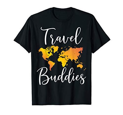 Travel Buddies T-Shirt Matching Couple Traveler Adventure