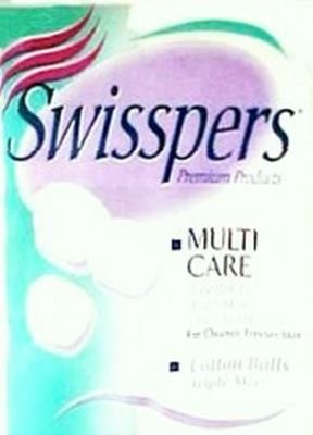 Swisspers Premium Multi Care Cotton Balls, Triple Size, 100-Count (12-Pack) U.S. Cotton Company