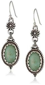Lucky Brand Women's Morning Star Double Drop Earrings Turquoise Drop Earrings