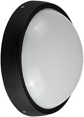 Lámpara LED de pared exterior de aluminio negro contemporánea ...