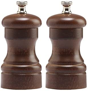 "product image for Chef Specialties 4"" Capstan Pepper Mill and Salt Mill Set, Walnut"