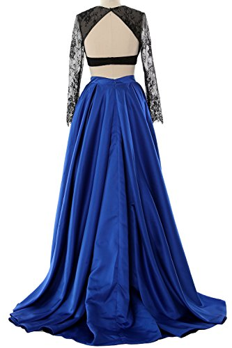 Evening Gown Formal Long MACloth Piece Elegant Elfenbein Sleeve 2 Party 2018 Dress Prom PxxqZwRvF