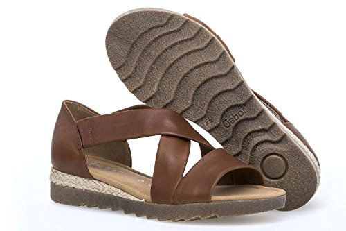 Open Casual Sandals Womens 82 Gabor Toe 711 Marron ptq6YnI