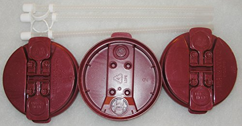 """3-Electron Burgundy Replacement lids and 3-11"""" Flexible Stra"""