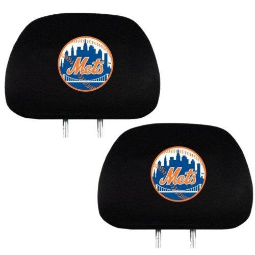 Official Major League Baseball Fan Shop Authentic Car Truck Auto MLB Headrest Cover (New York Mets)