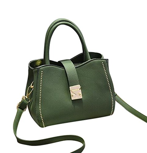 Baymate Moda Bolsos Para Mujer PU Piel Tote Bolsa Crossbody Shopper Bolsos Verde