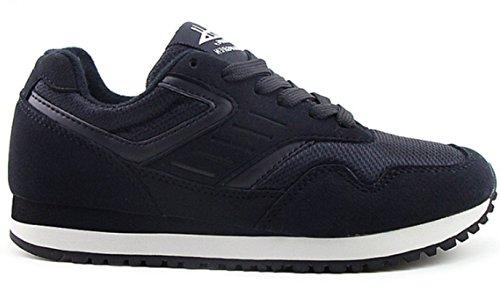 Baskets de pour sur à chaussures plein lacets course route DADAWEN noir adultes de air Rxgnqd