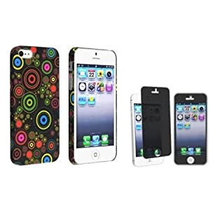 Quaroth Everydaysource compatible with Apple iPhone 5 / 5S Design Cute Cool Black Candy Colorful Bubble Snap-on Rubber...