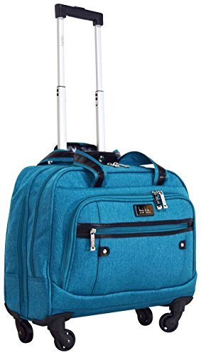 Nicole Miller New York Taylor Carry On Spinner Briefcase (Teal)