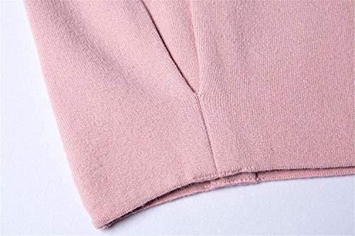 Maglia Giuntura Elegante Strisce Battercake Festiva Giacca Donna Outwear Autunno Donne Fashion A Manica Giacche Con Rosa Cerniera Lunga Cappotto Casuale XgY7gRA