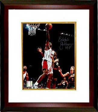 e382d2c8d6551 Eddie Johnson Autographed Picture - Houston Rockets 8x10 Custom ...