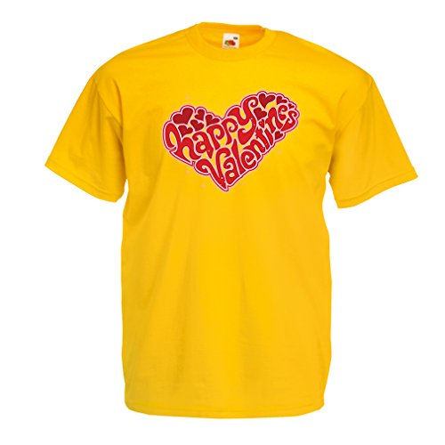 lepni.me T Shirts For Men ST. Valentines Day - My Love Sexy Valentines Day Outfits Dating Gifts (XX-Large Yellow Multi - St Monica Images