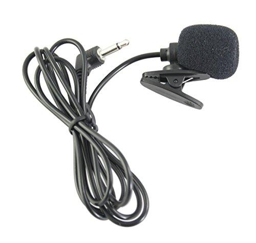 (EXMAX Black Mini lavalier Lapel Tie Clip-on 3.5mm Jack Condenser Collar Microphone for Belt Pack Mic System,Voice Amplifier,Teachers, Speakers,Coaches,Presentations,Tour Guides)