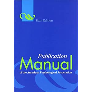 Ratings and reviews for Publication Manual of the American Psychological Association, 6th Edition