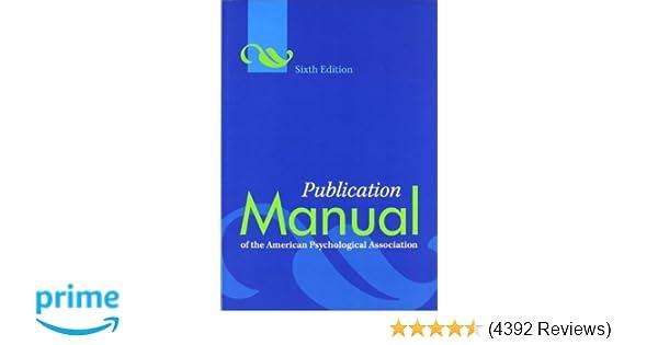 amazon com publication manual of the american psychological rh amazon com manual apa sexta edicion amazon APA Style