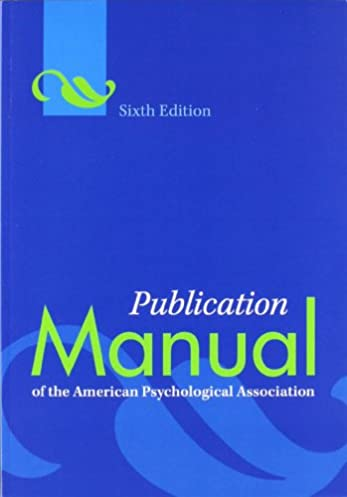 amazon com publication manual of the american psychological rh amazon com apa manual book citation apa manual book citation