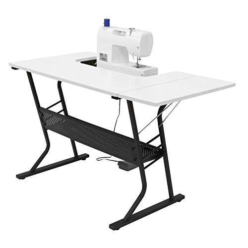 [US Stock] Anbeaut Home Indoor Adjustable Platform Sewing Machine Table Computer Desktop