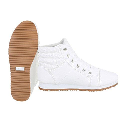Mujer Zapatillas altas Ital Design Weiß FOPCY