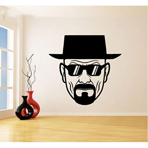 hwhz 57X59 cm Wall Decal Vinyl Room Decoration Breaking Bad Heisenberg with Sunglasses ARR Wall Sticker Mural for $<!--$22.69-->