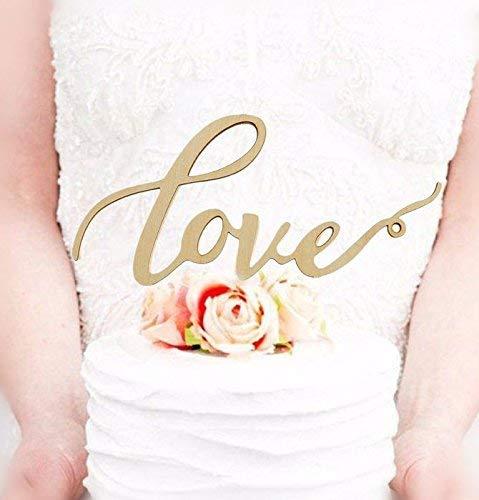 (Mr Mrs Wood Cake Topper Birthday Cake Topper, Wedding Reception,Wedding Cake Decoration (LOVE))