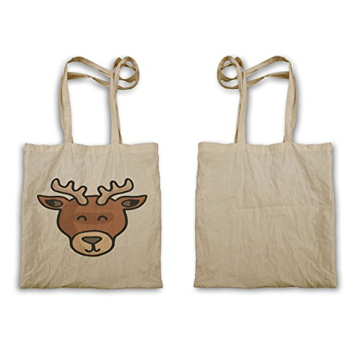 Tote Bag Oky389 Degli Animali Del Cervo Di Smiley Animale
