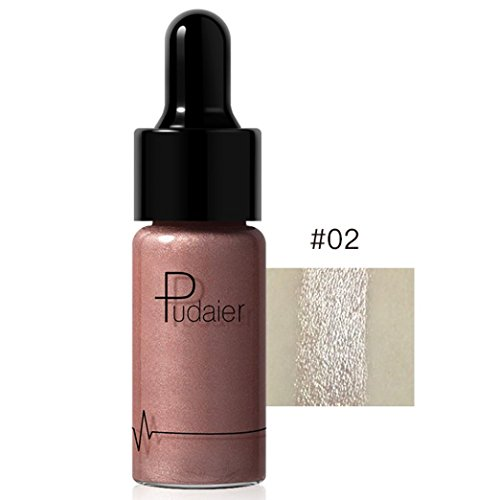 SMYTShop Face Glow Liquid Highlighter Waterproof Contour Make Up Glitter Brighten Shimmer Highlighters Makeup 12 Colors Available (12 Colors:B)