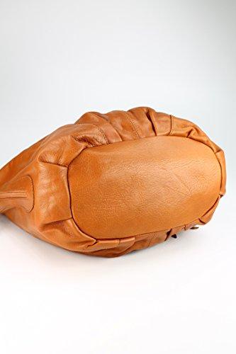 Belli - Bolso de asas de cuero para hombre marrón marrón 35x31(mittig)x17 cm (B x H x T)