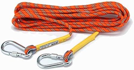 Orange MUMAI Life Saving Emergency Survival Rope Outdoor Climbing Equipment with 2 Rock Hooks 32ft 64ft 98ft 164ft 328ft Diameter 8mm
