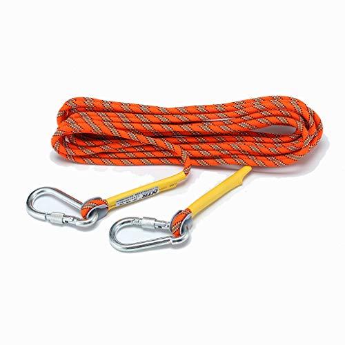 MUMAI Life Saving Survival Rope Outdoor Climbing Equipment with 2 Rock Hooks 164ft Diameter 8mm (Orange)