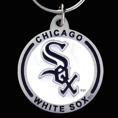 Zinc MLB Team Logo Key Ring - Chicago White (Sox Team Key)