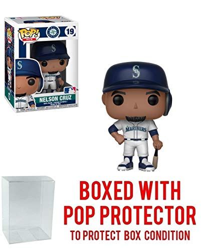 - POP! Sports MLB Seattle Mariners Nelson Cruz Action Figure (Bundled with Pop Box Protector to Protect Display Box)