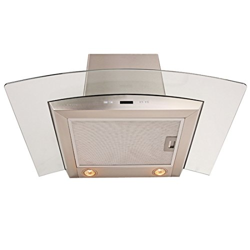 CAVALIERE 36'' Wall Mounted Stainless Steel / Glass Kitchen Range Hood 900 CFM SV218D-36 by CAVALIERE (Image #3)